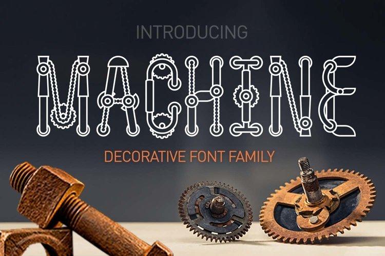 Machine font family