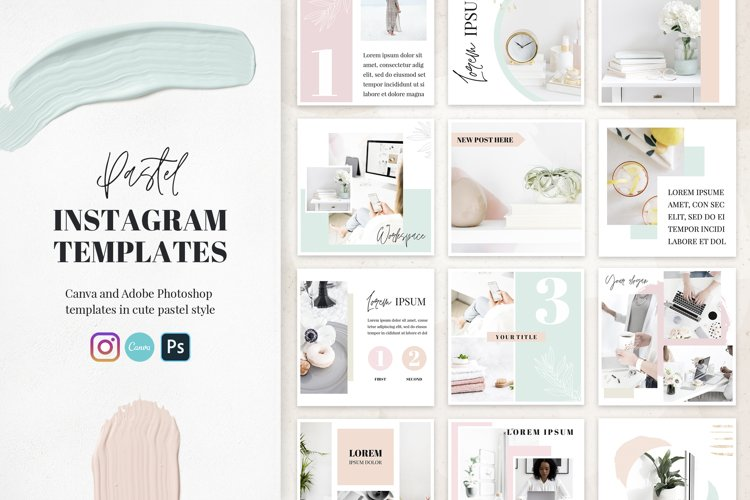 Canva Instagram Templates Pastel example image 1