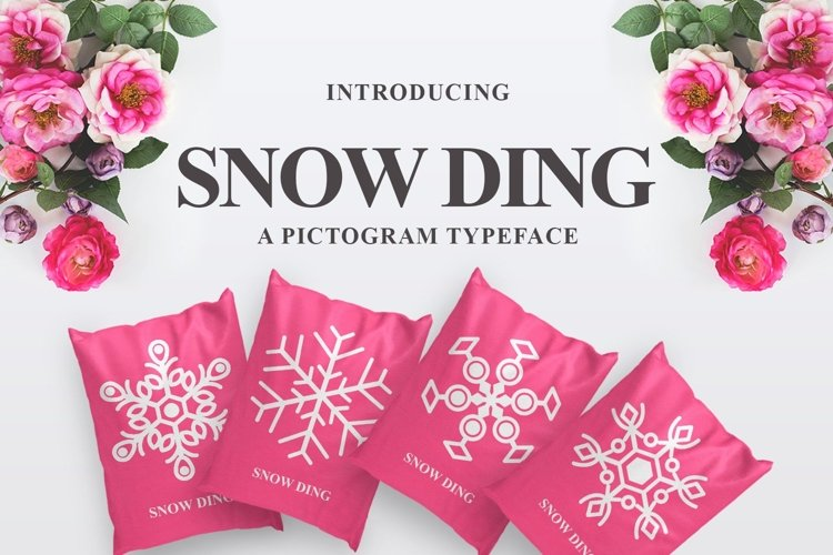 Web Font Snow Ding example image 1
