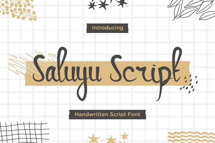 Saluyu Script -Handwritten Font example image 1