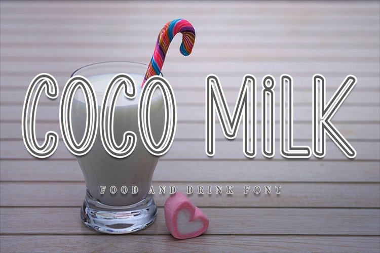 Coco Milk - Modern Display Font example image 1