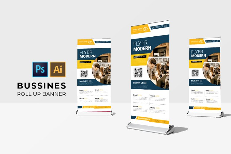 Business   Roll Up Banner example image 1