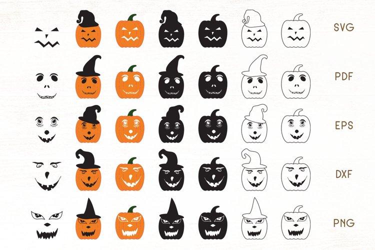 Pumpkin Face SVG - Halloween Pumpkin Faces - Pumpkins SVG example image 1