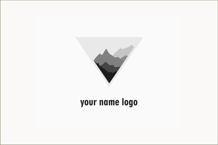 LOGO design Photography Clean Simple- logo with mountains example image 1