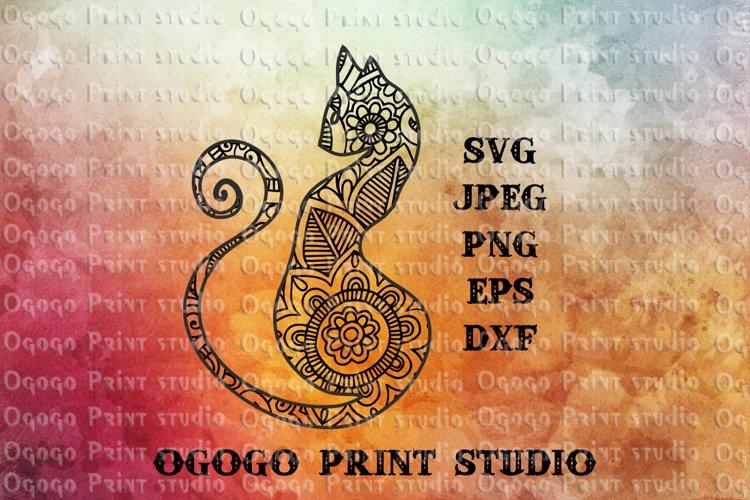 Cat SVG, Mandala svg, Zentangle SVG, Pet svg, Animal svg