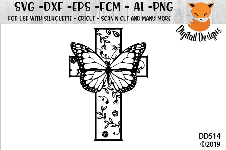 ButterFly Cross SVG example image 1