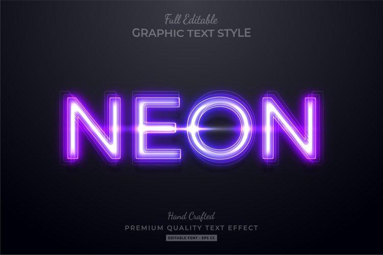 Neon Purple Editable Text Style Effect Premium example image 1