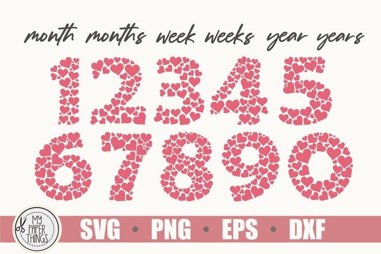 Baby Milestones svg bundle | Numbers SVG | Heart SVG example 2
