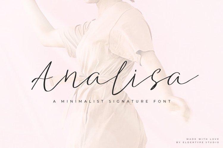 Analisa - Minimalist Font example image 1