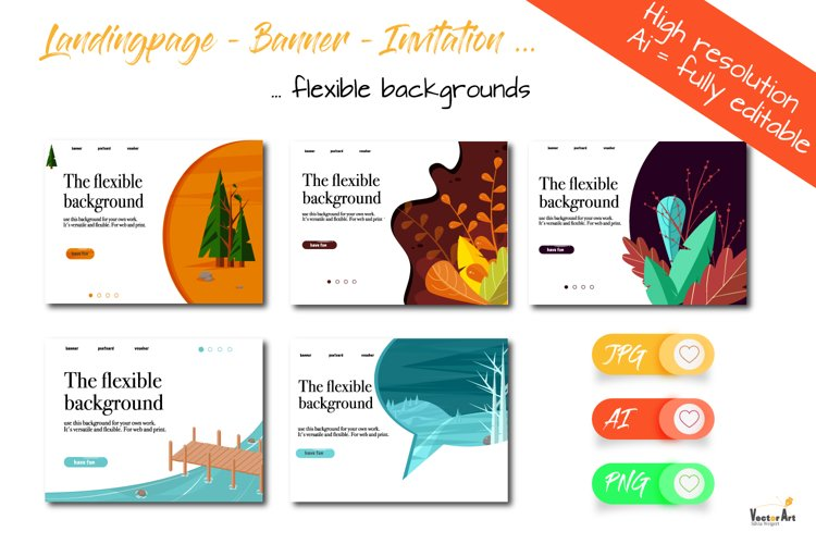 Template Bundle - Landing Page - Banner -Invitation