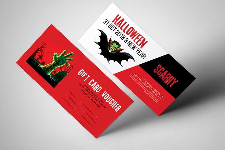 Halloween Gift Voucher Template example image 1