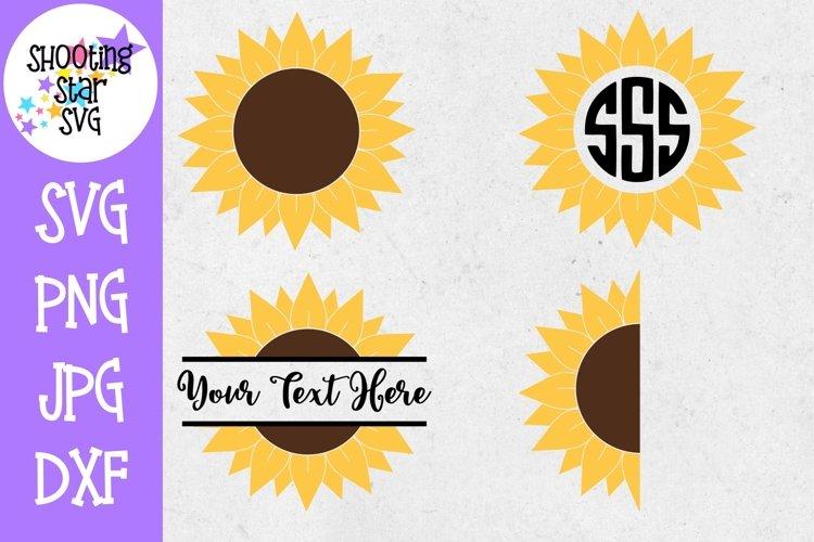 Sunflower SVG Bundle - Sunflower Monogram SVG