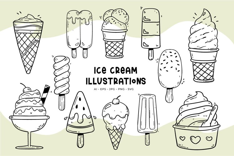 Ice Cream illustrations example image 1