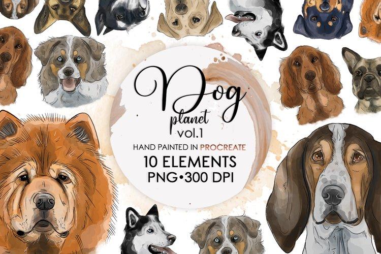 Dog Drawing, Dog Clipart, Dog Png, Sublimation Bundle, Dogs example image 1