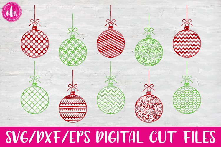 Pattern Christmas Ornaments - SVG, DXF, EPS Cut File example image 1