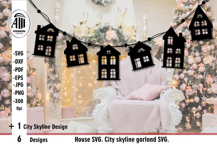 House SVG| City skyline SVG| House street silhouette SVG