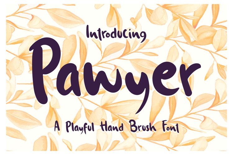 Pawyer - A Playful Hand Brush Font example image 1