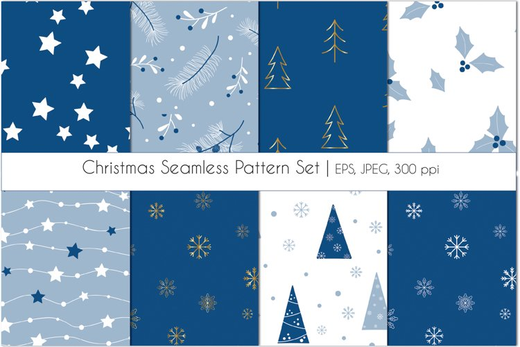 Christmas digital paper, Christmas seamless pattern example image 1