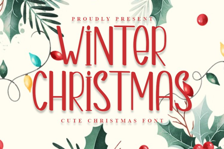Winter Christmas | A Cute Christmas Font example image 1