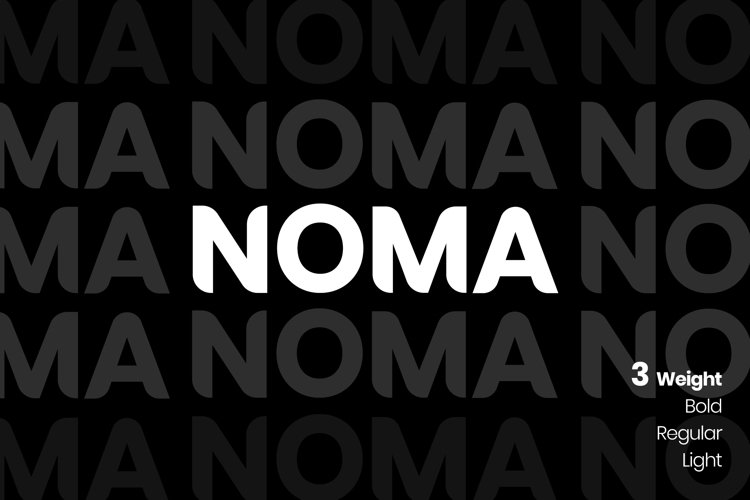NOMA Sans Serif Font example image 1