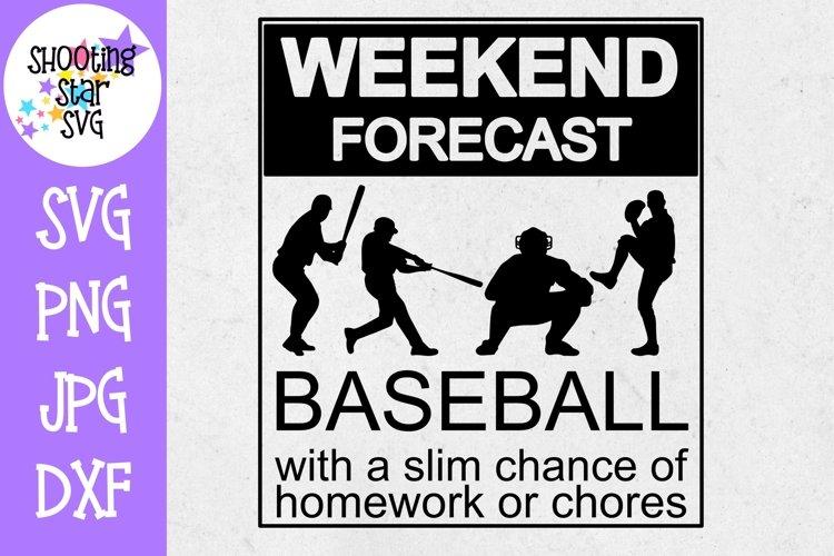 Weekend Forecast Baseball - Baseball SVG - Sports SVG