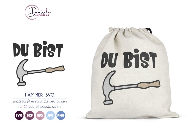 Du bist Hammer SVG | Hammer SVG example image 1
