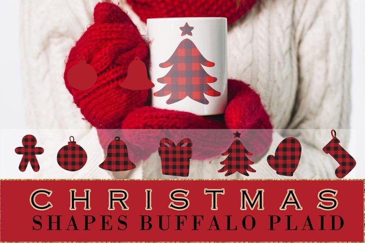 Buffalo plaid Christmas, shapes, sublimations example image 1