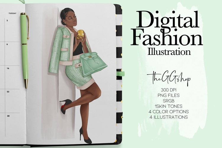 African American Lady Boss Clipart