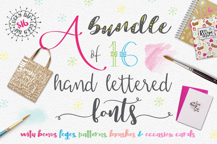 Lucky Dip Hand Lettered Font Bundle example image 1