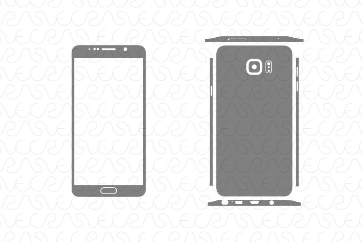 Samsung Galaxy Note 5 / Decal Cut file Vector Template 2015