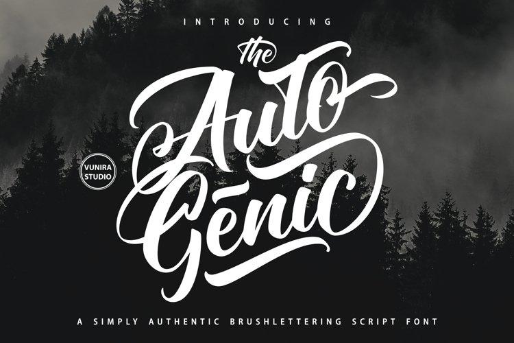 Autogenic | Brush Lettring Font example image 1