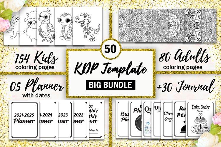 Big KDP Template Bundle, coloring pages, planner & journal