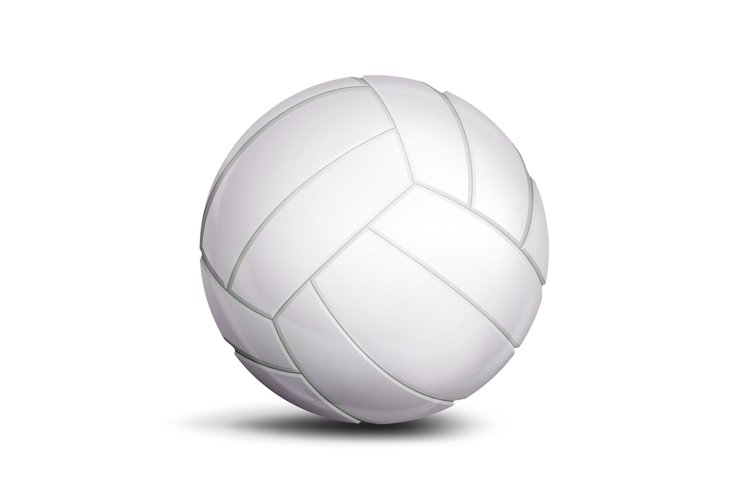 Volleyball Ball Vector. Sport Game example image 1