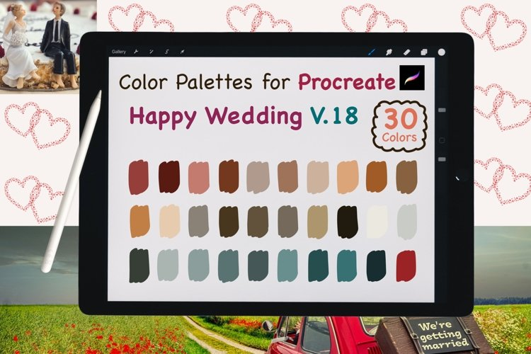 Color Palettes set for Procreate - Happy Wedding V.18 example image 1