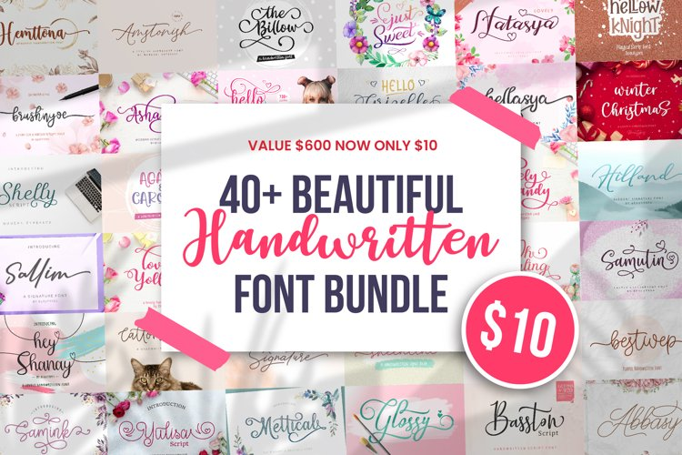 Beautiful Font Bundle - Valentine Edition