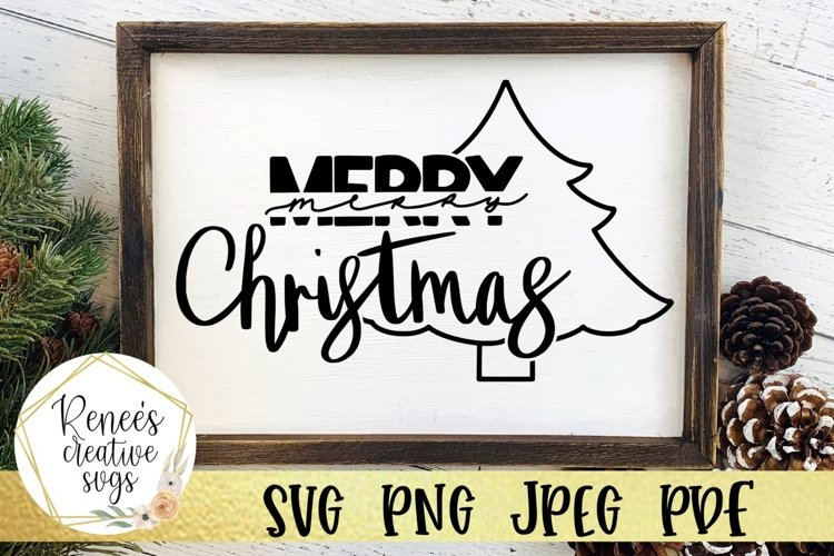 Hand Lettered Merry Christmas SVG file