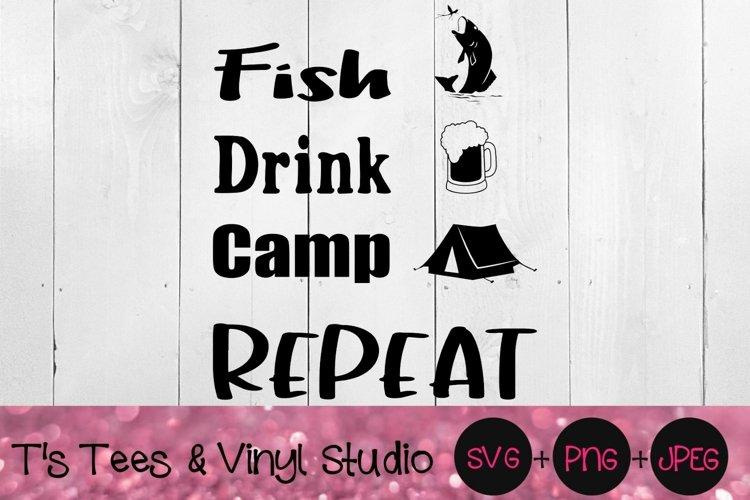 Download Fish Svg Drink Camp Repeat Fishing Drinking Lake Life 1283475 Cut Files Design Bundles