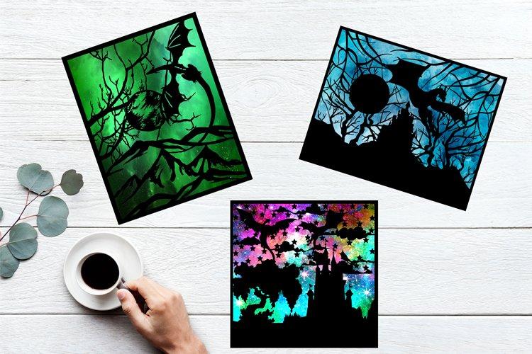 Dragon SVG Bundle, Dragon Paper Cut Outs, Fantasy SVG