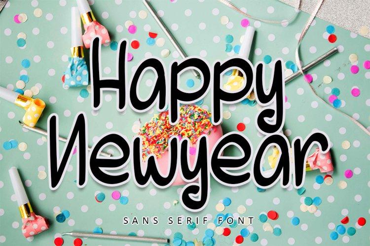Happy Newyear - Cute Sans Serif Font example image 1