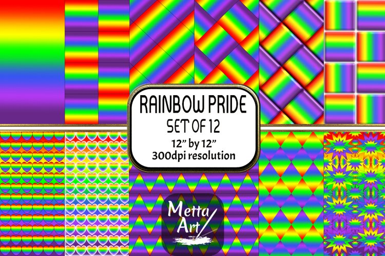 12 Seamless Pattern - 12 x 12 Rainbow Pride Set