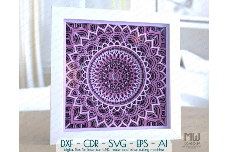 M153 - 3D Mandala Pattern Shadow Box Mandala SVG DXF