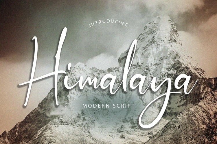 Himalaya Modern Script Font example image 1