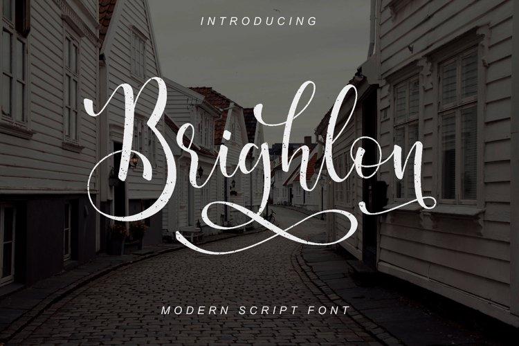 Brighlon - Modern Script Font example image 1