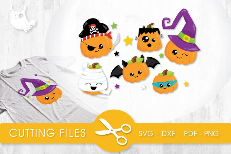 Pumpkin Dress Up cutting files svg, dxf, pdf, eps included - cut files for cricut and silhouette - Cutting Files SG example image 1