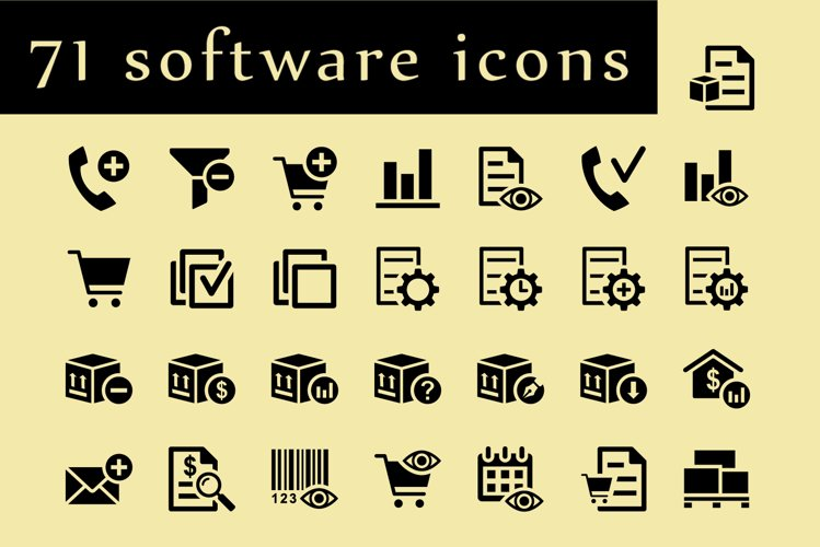 ERP software icons