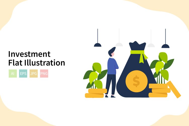 Investment Flat Vector Illustration example image 1