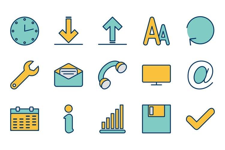 Set Of Web and Basic Ui Icons example image 1