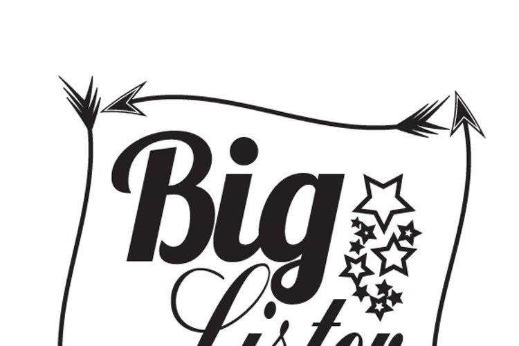 Big sister  Svg,Dxf,Png,Jpg,Eps vector file example image 1