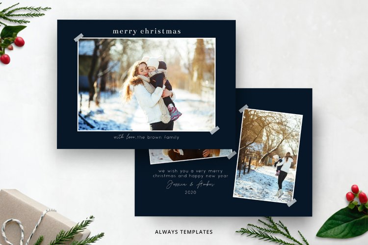 Christmas Card Template CC088 example image 1