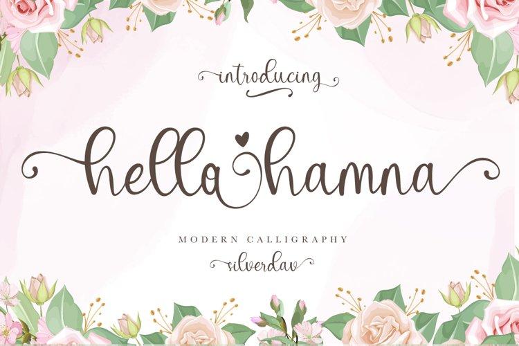 Hello Hamna - Modern Calligraphy Font example image 1
